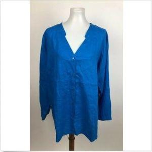 NEW Eileen Fisher Handkerchief Linen Tunic Top 2X